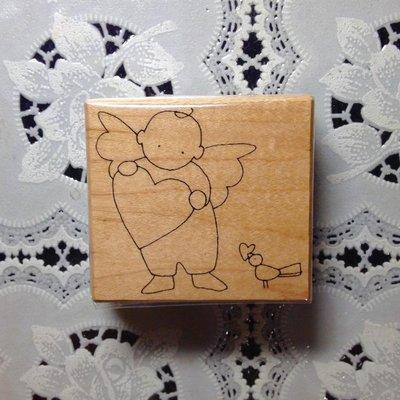 貝登堡印章~G章(GK-52146)豆莢寶寶與小鳥