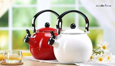 尼克卡樂斯~日式復古琺瑯搪瓷茶壺-紅色...