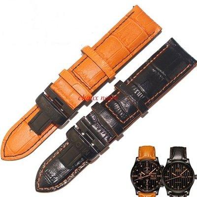 《艾斯國際》MIDO ORIS Maurice Lacroix 艾美 美度 豪利時 牛皮壓紋錶帶