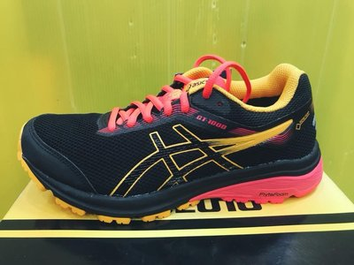 ASICS女 限量 GT-1000 防水 GORE-TEX 慢跑鞋越野鞋 1012A031-001 黑藍黃 公司貨 現貨 台北市