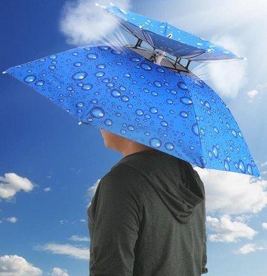 釣魚頭戴傘帽戶外防風可折疊防曬遮陽
