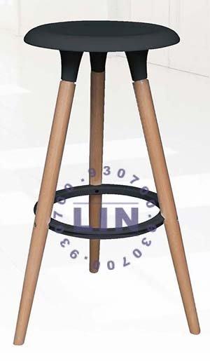 【品特優家具倉儲】R398-02餐椅洽談椅工業風652木腳吧台椅
