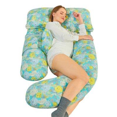 可寶 孕婦枕頭護腰側睡枕托腹用品多功能u型枕神器睡覺側臥枕抱枕