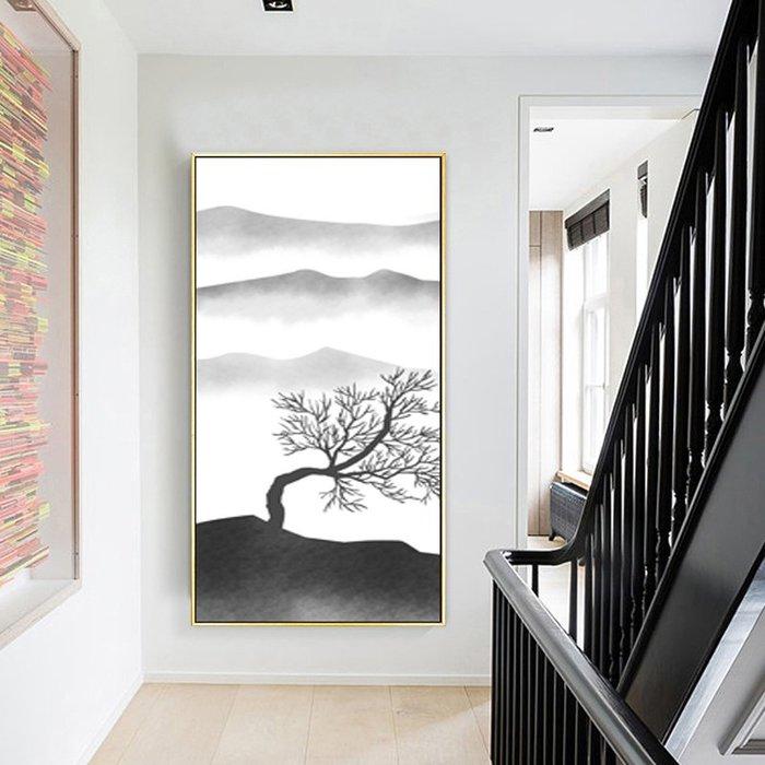 新中式藝術畫中式客廳裝飾畫畫芯現代沙發牆畫玄關畫(3款可選)