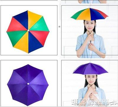 傘帽    帶頭上的采茶遮陽傘用傘務農頭上套頭垂釣傘帽頭戴傘防曬成人igo