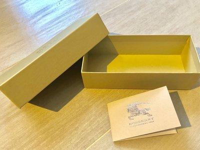 "100%全新100%真品「Burberry」眼鏡 紙盒 eyes glasses paper box 連卡 6.75x3x1.5"" BV LV"