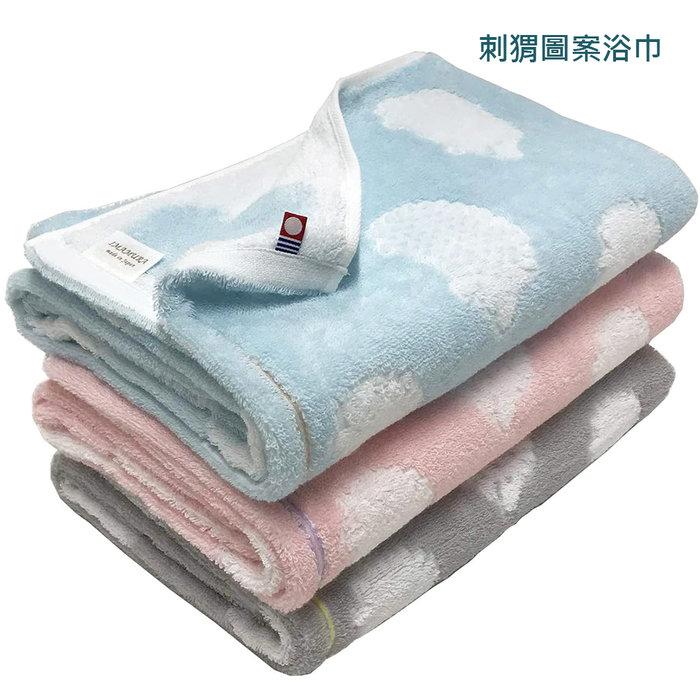【樂活先知】『代購』 日本  今治毛巾 認證   毛巾  浴巾  刺猬圖案浴巾3件60x120cm