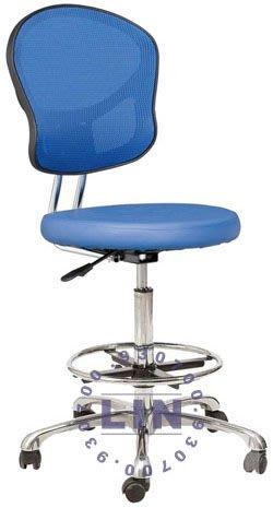 【品特優家具倉儲】R019-08吧台椅洽談椅620五爪腳踏圈網背吧台椅