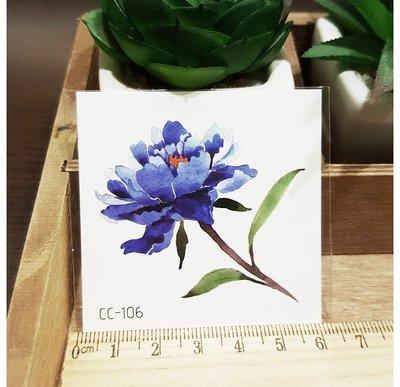 【萌古屋】花朵單圖CC-106 - 防水紋身貼紙刺青貼紙K38