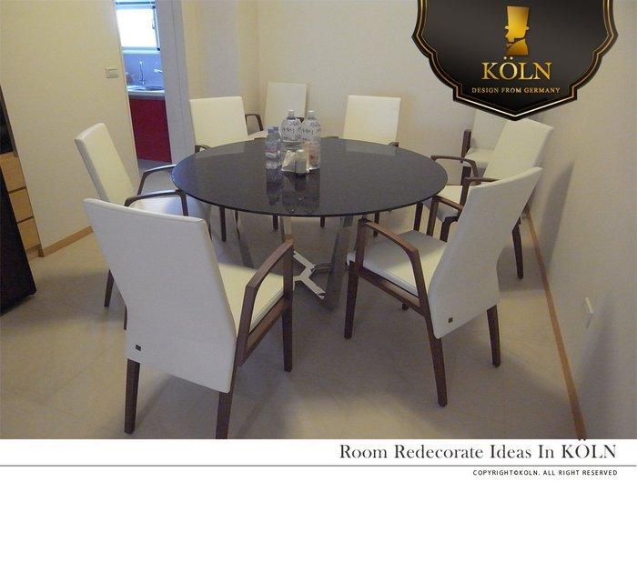 【爵品訂製家具】MF-CD-05復刻Rolf benz 675 北美胡桃實木餐椅 牛皮餐椅  扶手椅 (另有無扶手款)