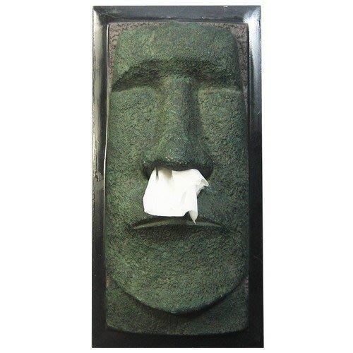 (I LOVE)少見商品-智利復活島迷你Moai巨像衛生紙盒moai 摩艾實用 裝置藝術 送人自用兩相宜