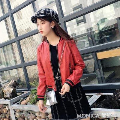 皮衣女短款外套韓版顯瘦學生寬鬆pu皮夾克機車bf風1000#