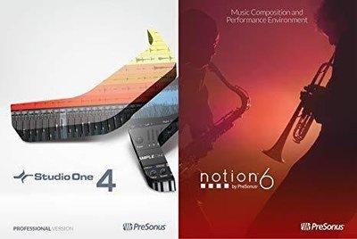 [反拍樂器] PreSonus Studio One 4 Professiona Notion 6 bundle 音樂