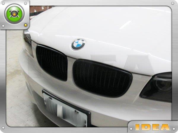 泰山美研社4681 BMW E82  消光黑 水箱護罩