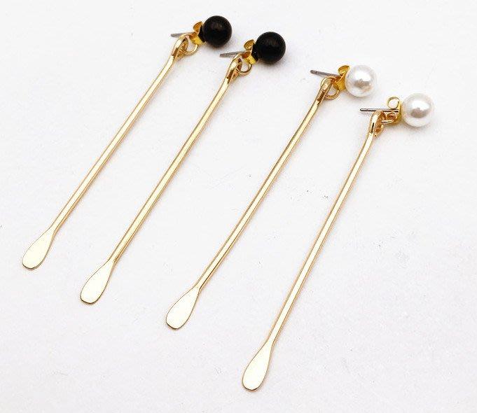 現貨 韓劇女主角 金秘書最愛的細感金屬風 垂墜感 金屬 針形 條形 耳釘 耳環 耳針 耳鉤(ZSE84)