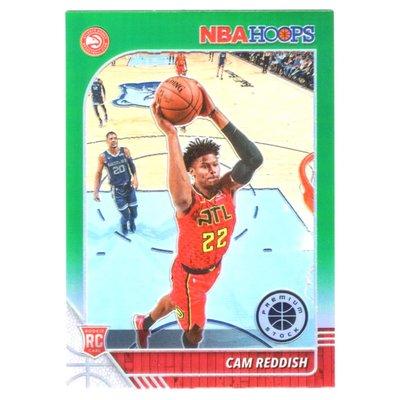 綠亮!(RC) 老鷹核心 Cam Reddish 必漲NBA Hoops Premium Green Prizm版新人RC金屬卡 2019-20