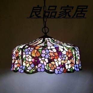 【優上精品】燈飾 燈具帝凡尼吊燈 蒂凡尼客廳工藝大吊燈 臥室紅鳥花wxf47(Z-P3233)