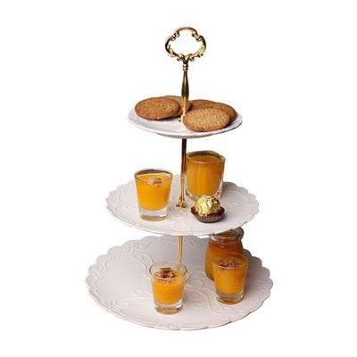 衣萊時尚-熱賣款 三層水果盤客廳家用蛋...