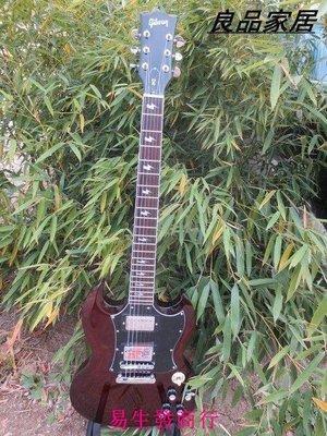 【易生發商行】時尚gibson SG電吉他 透明棕色 大護板 斜閃品記 指板和顏色都可F6368