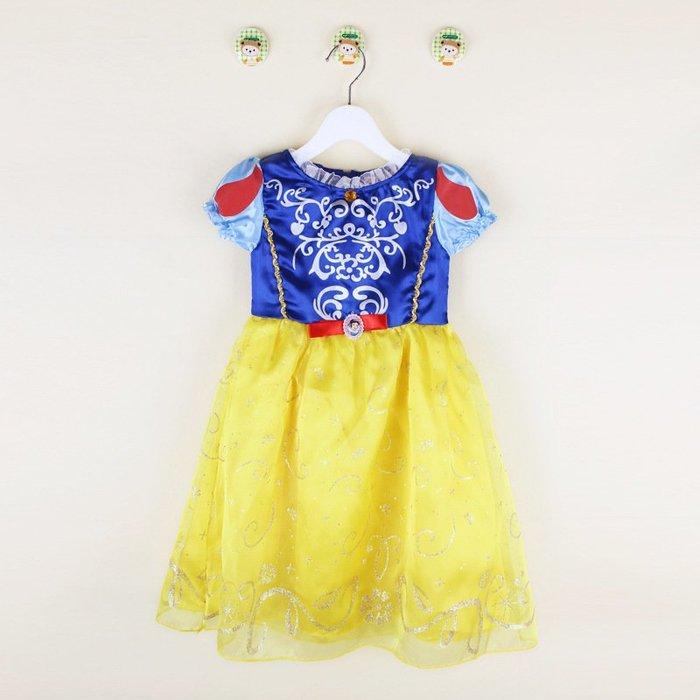 【洋洋小品兒童白雪公主服洋裝禮服】兒童造型服藍灰姑娘萬聖節服裝聖誕節舞會派對服裝表演灰姑娘公主禮服冰雪奇緣公主裝-現+預
