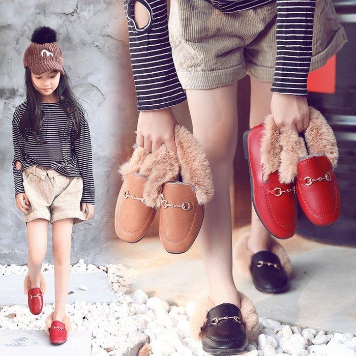 兒童  棉鞋 女童  皮鞋學生公主鞋學生豆豆鞋 韓版