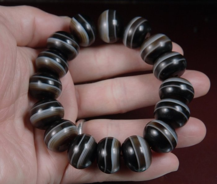 藏珠物流中心 **同礦紋大藥師珠(18.5mm)手鍊****K130