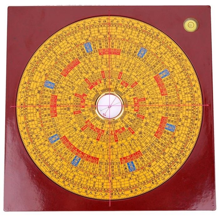集福堂羅盤擺件綜合風水羅盤三元三合精準專業羅經儀風水測量擺件