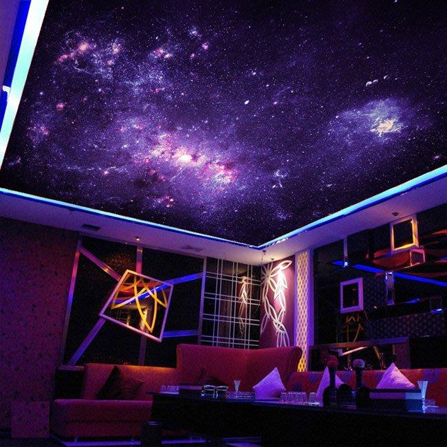 客製化壁貼 店面保障 編號F-782 紫色銀河 壁紙 牆貼 牆紙 壁畫 背景牆 星瑞 shing ruei