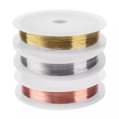 【指甲樂園nails】美甲光療材料 日本超夯金銀銅線 極細銅絲線  0.2mm 長30米