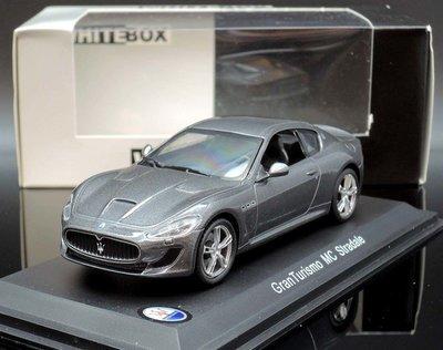 【MASH】[現貨瘋狂價] Whitebox 1/43 Maserati Granturismo MC 2013 鐵灰