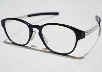二手原廠正品 ic! berlin Model linearity 德國製中性時尚輕薄無螺絲設計膠框眼鏡框鏡架