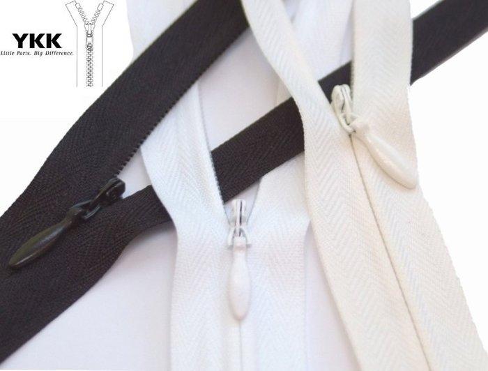 Colorful DAY MIT老牌YKK拉鍊隱形拉鍊30CM=1尺(12吋)工藝枕頭套縫紉用拉鍊布飾手作(白色)