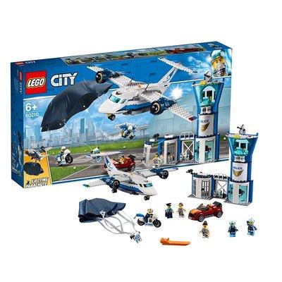新風小鋪-LEGO樂高積木城市警察飛機60210空中警察基地男孩拼插模型玩具