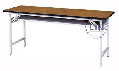 【品特優家具倉儲】◎P991-23會議桌木紋黑邊會議桌補習桌180*45◎