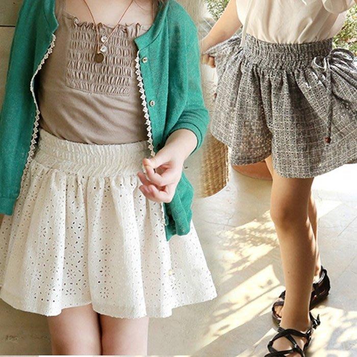 【小阿霏】兒童休閒短褲 女童寬鬆雕花縷空褲裙 女孩褲子 夏季新款PA163
