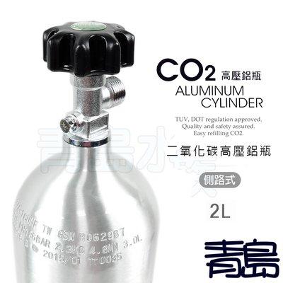B。。。青島水族。。。MAXX 極限-CO2二氧化碳 高壓 鋁合鋼瓶(鋁瓶)國際品質認證 瓶身有認證碼==2L(側路式)