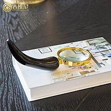 〖洋碼頭〗天然真牛角放大鏡書房書桌擺件飾品樣板間歐式新古典美式 jwn250