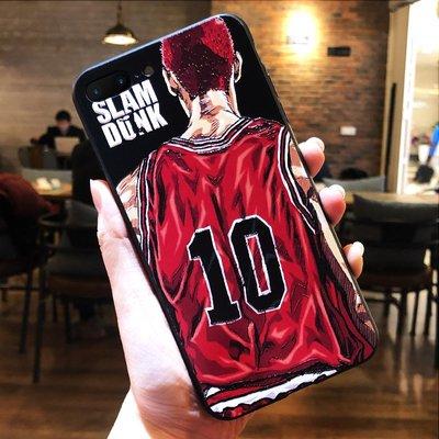 潮殼蘋果iphone7plus手機殼全包8plus保護套8x個性xsmax保護套xr創意xs新款6s浮雕6磨砂iphonex籃球灌籃高手潮男8