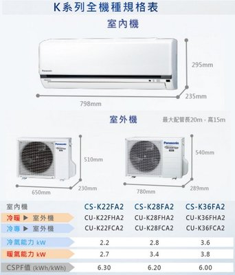 🈶️貨 國聖家電空調 國際1級變頻單冷 CU-K36FCA2 CS-K36FA2 另有 RAC-36SK1 舊機回收