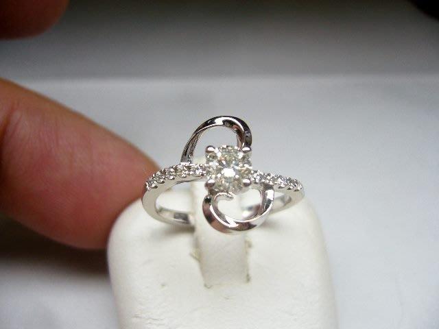 [吉宏精品交流中心]34分 南非天然鑽石 白K金 八心八箭 造型 戒指