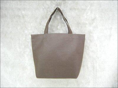 不織布環保袋(33*26+9.5)-BAG-026 素面無印刷(深咖啡色*100只)