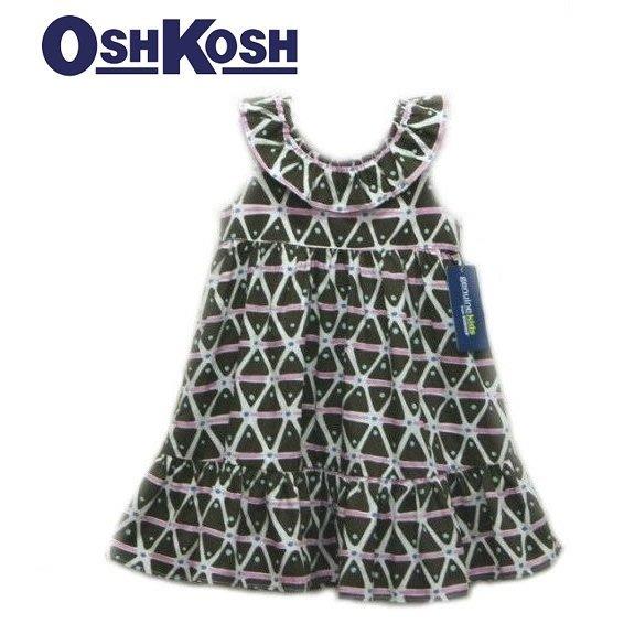 女童長頸鹿 豹紋 荷葉領 無袖 大圓裙襬 洋裝 12M,18M,24M,2T,3T,4T【A2】