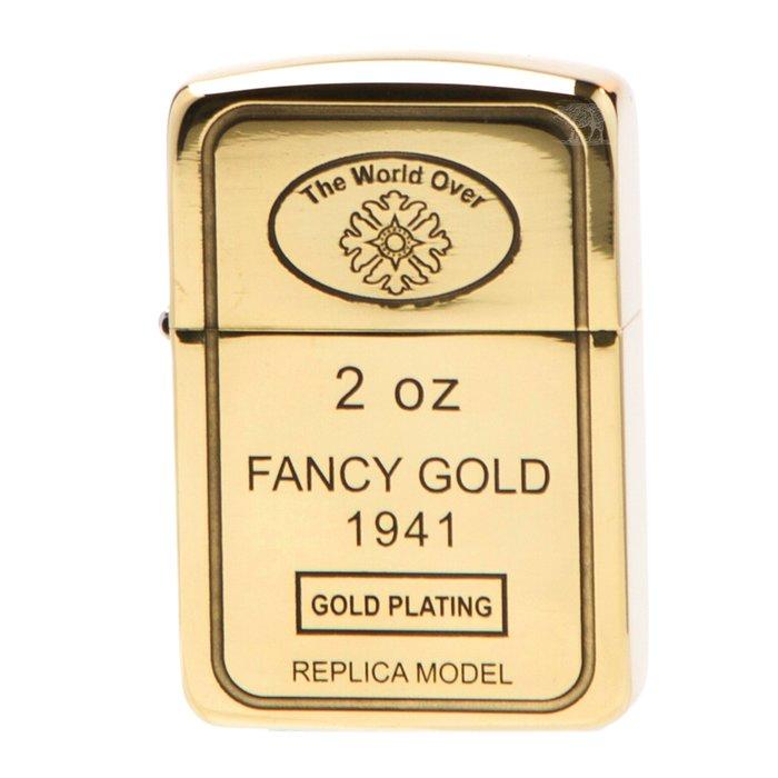 黑羊選物 Zippo 2oz金塊 1941復刻版 鏡面質感 低調潮流 純黃銅 煤油打火機 美國原廠 適合送禮