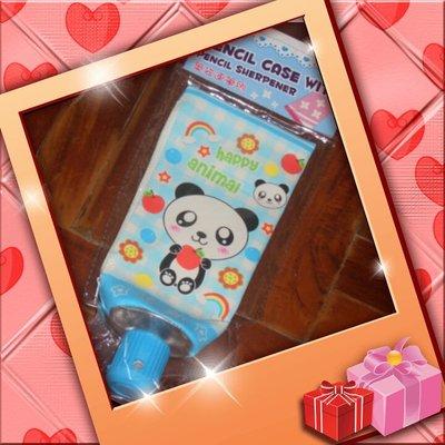 超可愛牙膏型筆袋連筆刨 - 小熊貓