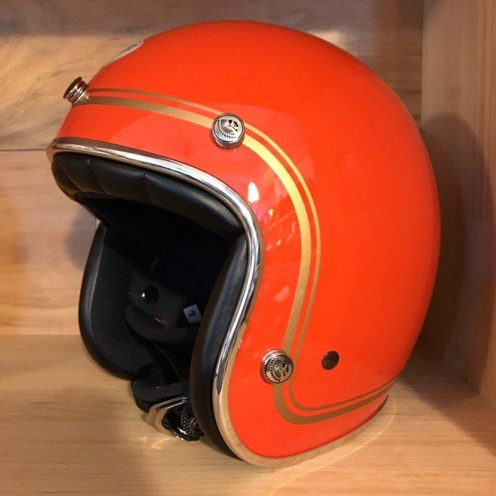 (I LOVE 樂多) 最新二代 Chief Helmet Ticuna系列 3/4 安全帽 (橘色)