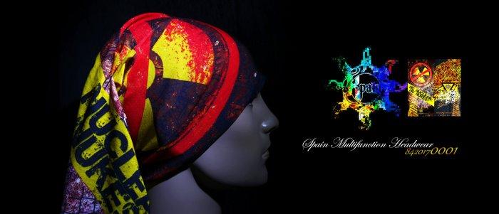 市面唯一西班牙製高品質2017最新款反核 科學 普普風 70年代 狼 光明會 自然 森林 幾何多功能頭巾 面罩 魔術頭巾