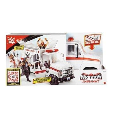 MATTEL WWE Slambulance 世界娛樂摔角 救護車大戰遊戲組~請詢問庫存