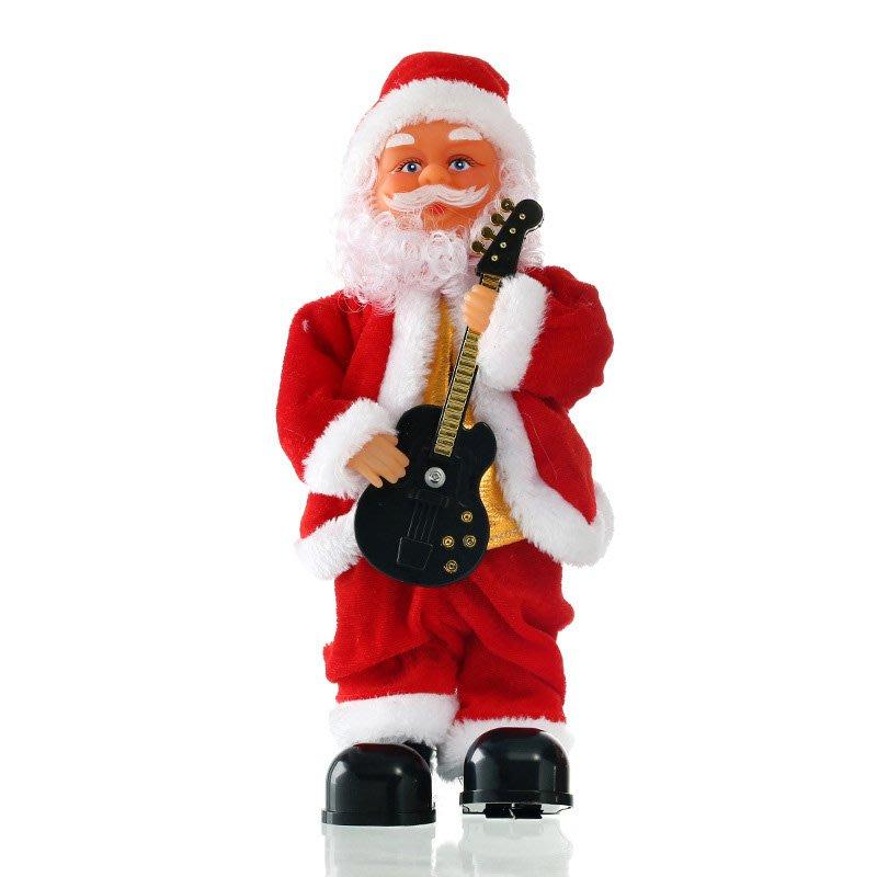音樂聖誕老人電動聖誕玩偶彈唱公仔樂隊兒童聖誕禮物品擺件聖誕節