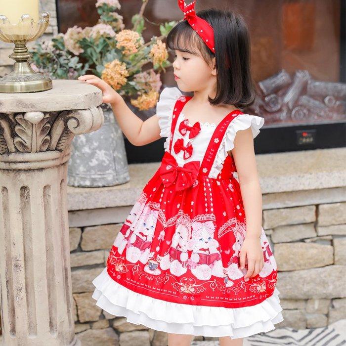 •*~ 辣媽咪衣飾小舖 ~*•❤童裝系列❤K090450韓版兒童夏款甜美夢幻夢蘿莉洛麗塔氣質公主裙洋裝