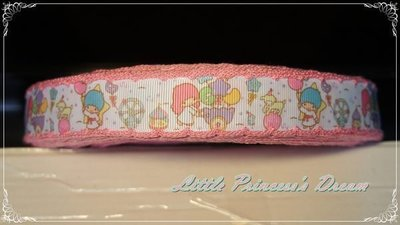 Kiki Lala 雙子星 22mm 細緻粉色滾邊羅紋帶 (緞帶/髮飾材料/DIY手作) 現貨實品拍攝